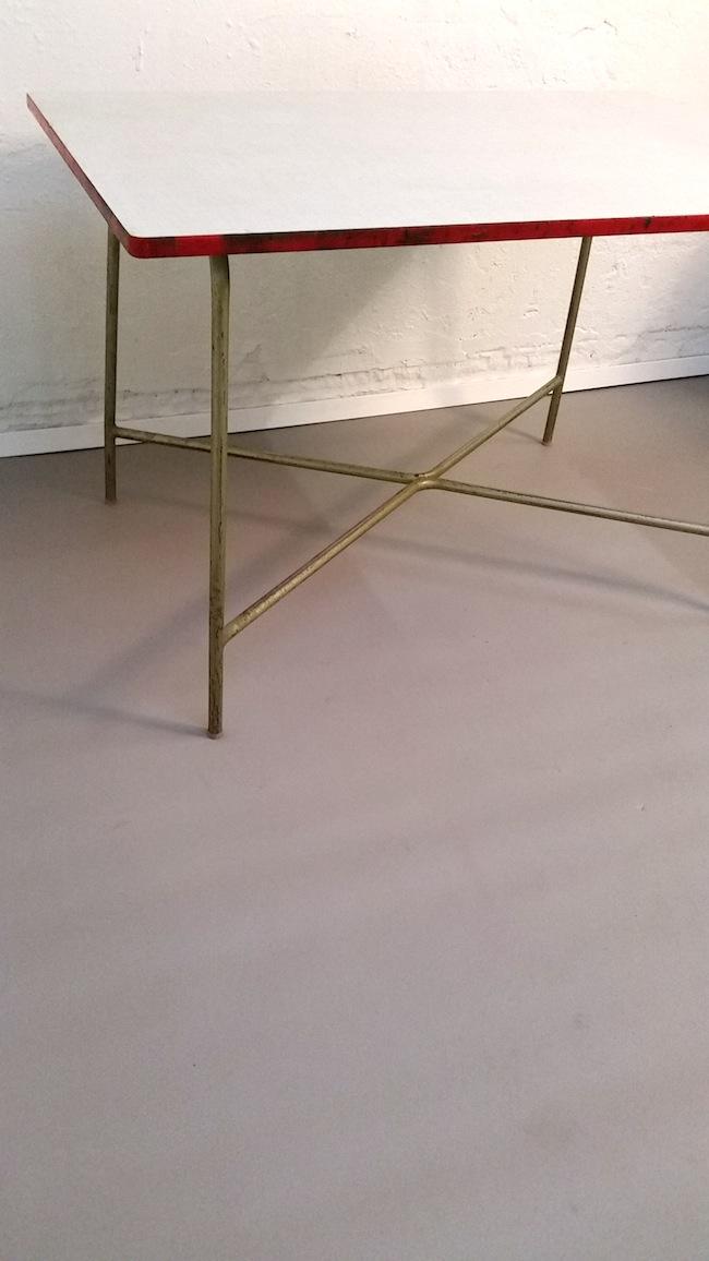 69m2 d sseldorf industrietisch resopal stahlgestell. Black Bedroom Furniture Sets. Home Design Ideas